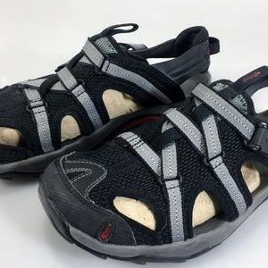 Ahnu Sport Sandals Womens 8.5 Black Gray EU39 UK6
